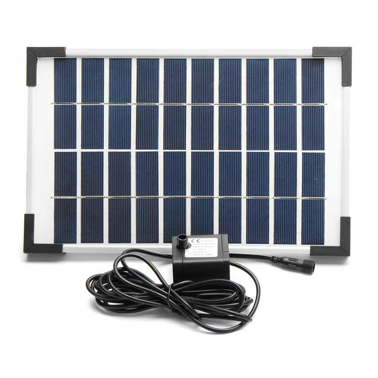 5W 500L/h Brushless DC Solar Panel Power Water Pump Garden Pond Pool Water Feature Submersible Fountain Pond