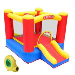Ktaxon Small Inflatable Bounce House Jumper Slide Castle with UL Certified 350W Blower