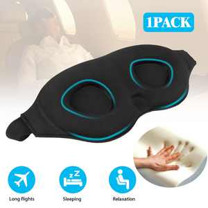 Travel Sleeping Eye Mask 3D Memory Foam Padded Shade Sleep Blindfold with Ear Plugs for Men Women Kids
