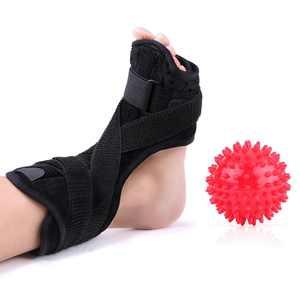 Knifun  Plantar Fasciitis Foot Splint, Night Dorsal Splint Foot Support Arch Orthotic Brace with Spiky Massage Ball for Drop Foot, Achilles Tendinitis, Heel Spurs, Heel Pain Relief