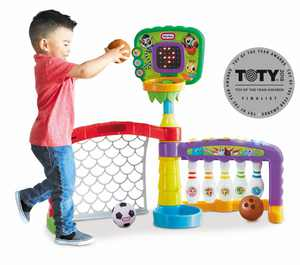 Little Tikes 3 in 1 Sports Zone - Basketball, Soccer Bowling for Toddlers