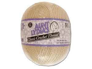 C&C Aunt Lydia's Jumbo Ball Crochet Sz10 2730ydNat
