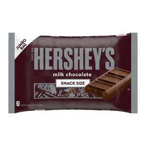 HERSHEY'S, Milk Chocolate Candy, 19.8 oz, Bag, 12 Pieces
