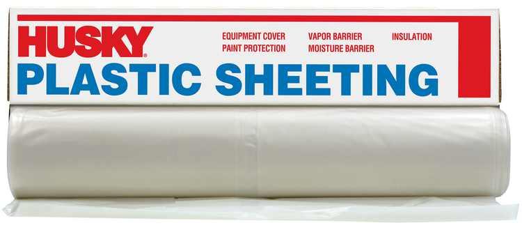 """Husky 8' 4"""" X 200' 2 ML Polyethylene Opaque Plastic Sheeting"""