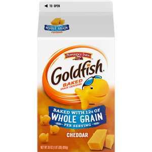 Pepperidge Farm Goldfish Cheddar Crackers, Baked with Whole Grain, 30 oz. Carton