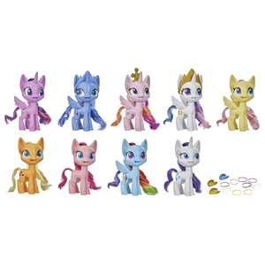 My Little Pony Mega Friendship Collection Set of 9 Pony Figures, 15 Accessories