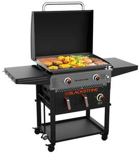 "Blackstone 2-Burner 28"" Griddle with Electric Air Fryer and Hood"