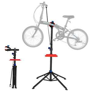 IRONMAX Pro Bike Adjustable 43'' To 71'' Cycle Bicycle Rack Repair Stand w/ Tool Tray Red