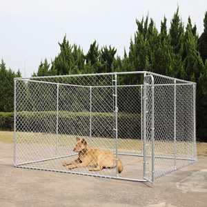 Coziwow Dog fence 10 x 10 Ft Heavy Duty Outdoor Chain Link Dog Kennel Enclosure w/ Door