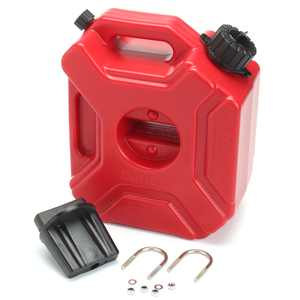 3L Motorcycle Car Plastic Portable Jerry Can Gas Fuel Tank Petrol ATV UTV Gokart Built-in Oil Pipe With Vent Holes 8.27 x 4.72 x 9.84 inches