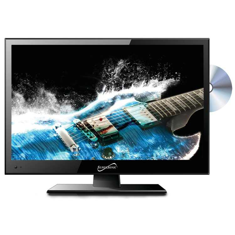 """Supersonic 15.6"""" 1366 x 768 LED Widescreen HDTV with DVD Player"""