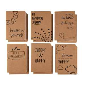 Kraft Notebook Bulk - 12 Per Pack Lined Pocket, Soft Cover, 80 Pages, Brown, A6, 4.1 x 5.8 Inches