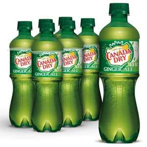 Canada Dry Ginger Ale Soda, .5 L bottles, 6 pack