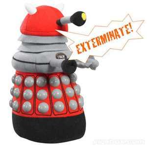 Doctor Who Medium Talking Plush: Red Dalek