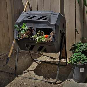 Barton 37 Gal. Garden Tumbling Composter - Black