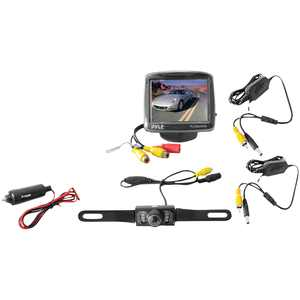 """Pyle Plcm34wir 3.5"""" Backup Camera & Monitor System With Night Vision"""