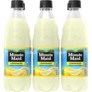 Minute Maid Lemonade Made w/ Real Lemons, 16.9 fl oz, 6 Pack