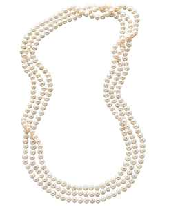 "100"" Cultured Freshwater Pearl Endless Strand Necklace (7-8mm)"