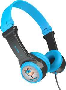 JLab - JBuddies Folding Wired On-Ear Headphones - Blue/Gray