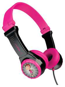 JLab - JBuddies Folding Wired On-Ear Headphones - Black/Pink