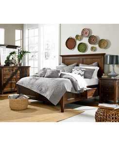 Matteo Storage Platform Bedroom 3 Piece Bedroom Set, Created for Macy's,  (Queen Bed, Dresser and Nightstand)