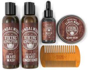 Viking Revolution Ultimate Beard Care Kit Contains Beard Wash & Conditioner, Beard Oil, Beard Balm and Beard Comb