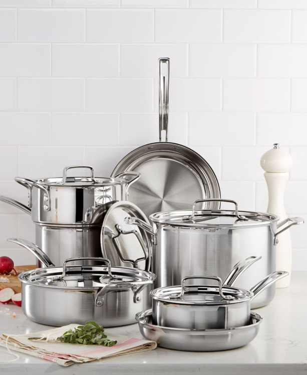 Multiclad Pro Tri-Ply Stainless Steel 12 Piece Cookware Set
