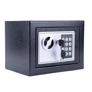 Electronic Safety Box Security Home Office Hotel Digital Lock Jewelry Black Safe Money, Black