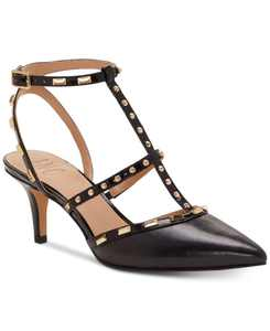 INC Carma Pointed Toe Studded Kitten Heel Pumps, Created for Macy's