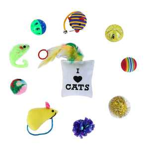 Weefy Toys Cat Lot Bulk Mice Balls Catnip Kitty Kitten Play Toy Treats Pet