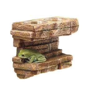 Zilla Vertical Decor for Reptiles, Rock Feeding Ledge