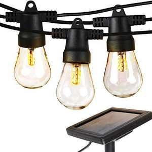Brightech Ambience Pro Waterproof LED Outdoor Solar String Lights Create Cafe Ambience On Your Porch