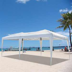 Outdoor Party Canopy Tent, 10'x 20' Waterproof Wedding Gazebo Canopy Party Tent, Portable Carport Party Tent Garage Shelter with carrying Bag, Outdoor Canopy Tents for Garden Beach Patio, S101680