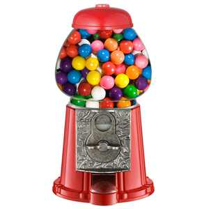 """Great Northern 11"""" Junior Vintage Old Fashioned Candy Gumball Machine Bank Toy - Everyone Loves Gumballs!"""