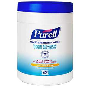 Purell Sanitizing Wipes, Canister Of 270 Wipes