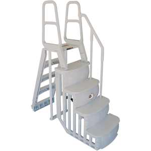 Main Access 200100T Above Ground Swimming Pool Step Ladder System w/ LED Light