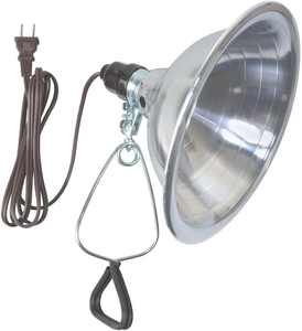Southwire 0151 18/2 6' SPT-2 Clamp Lamp Light with Aluminum Reflector
