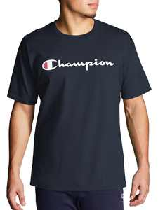 Champion Men's Script Logo Classic Graphic Jersey Tee