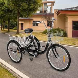 SalonMore Adult Tricycle 26-Inch Wheel Men's Women's Bike, Black