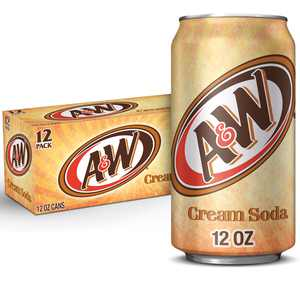 A&W Cream Soda, 12 fl oz cans, 12 pack