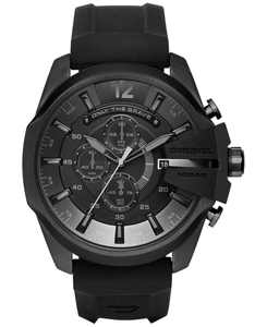 Men's Chronograph Mega Chief Black Silicone Strap Watch 51x59mm DZ4378