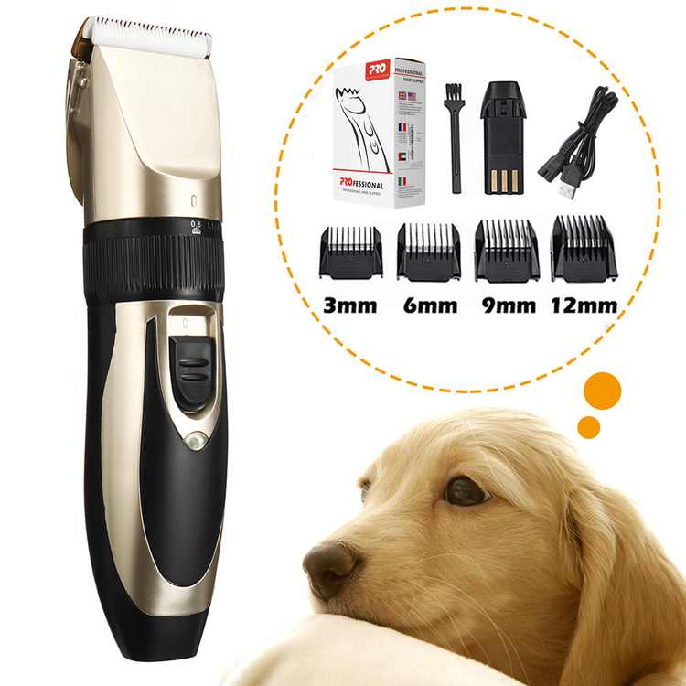 100V-240V Professional Pet Trimmer Cutter, Five Fine-tuning Speed Low Noise Grooming Kit, Rechargeable Cordless Electric Hair Clipper Shaver for Small Dogs Cats Pets