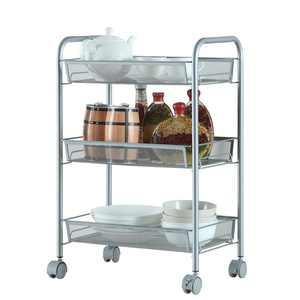Ktaxon Shelving Rack 3 Tier Rolling Kitchen Pantry Storage Utility Cart