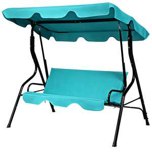 Costway Canopy Fabric Porch Swing - Blue