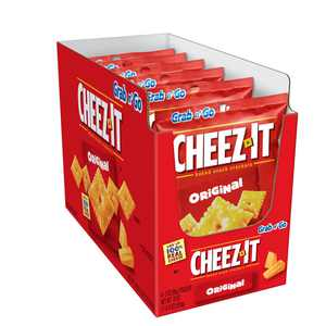 Cheez-It, Baked Snack Cheese Crackers, Original, Single Serve,18 Oz,6 Ct
