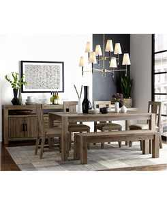 """Canyon 6 Piece Dining Set, Created for Macy's,  (72"""" Dining Table, 4 Side Chairs & Bench)"""