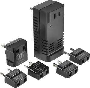 Insignia - Travel Adapter/Converter - Black