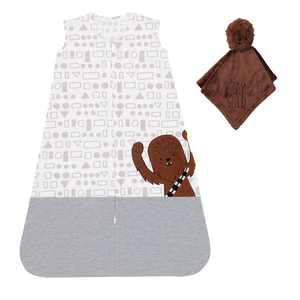 Lambs & Ivy Star Wars Chewbacca Wearable Blanket & Lovey Baby Gift Set - 2pc