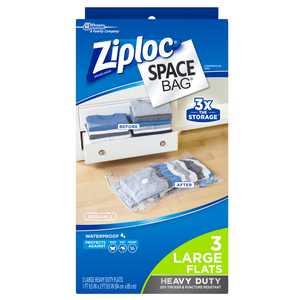 Ziploc Large Space Bag Vacuum Seal Bags, 3-Piece