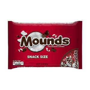 Mounds, Snack Size Dark Chocolate & Coconut Candy Bars, 11.3 Oz.